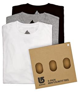 Burton 3 Pack Slim Fit T-Shirts Assorted