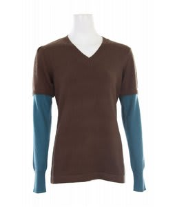 Burton Academy L/S V-Neck Roasted Brown