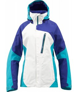 Burton AK 2L Altitude Snowboard Jacket Bright White Colorblock