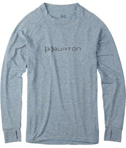 Burton AK Drirelease Wool Crew Baselayer Top Team Blue Heather