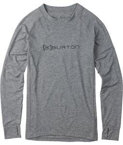 Burton AK Drirelease Wool Crew Baselayer Top Bog Heather