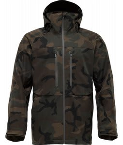 Burton AK 2L Stagger Snowboard Jacket Textured Camo Print