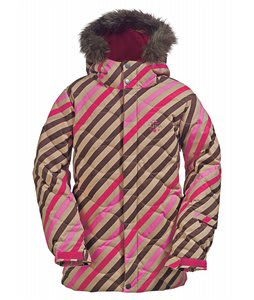 Burton Allure Puffy Snowboard Jacket Diag Stripe Wild Flwr
