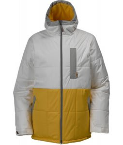 Burton Ante Up Puffy Snowboard Jacket Blotto Paper/Sunchoke/Grey