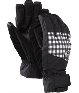 Burton Approach Under Gloves True Black Wrinkled Gingham