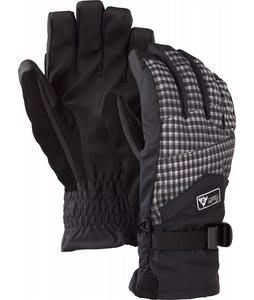 Burton Approach Under Gloves True Black Gingham Fade