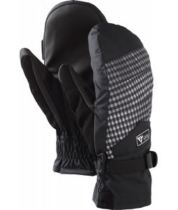 Burton Approach Under Mittens True Black Gingham Fade