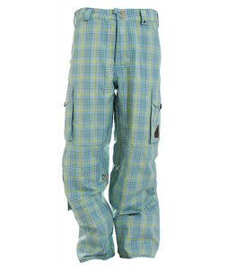 Burton Apres Snowboard Pants Pacific Blue Apres Plaid