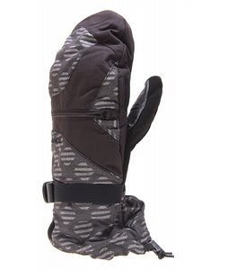 Burton Baker Mittens Black Stripe Jacquard