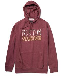 Burton Battery Pullover Hoodie Heather Crimson