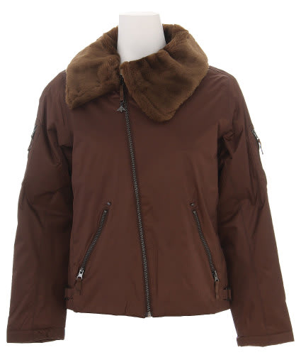 Burton B By Burton Roosevelt Bomber Snowboard Jacket Roasted Brown