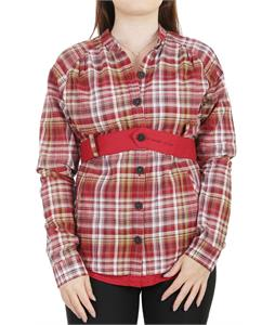 Burton Prof L/S Belted Top Jump Check Crimson