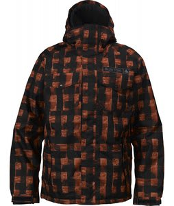 Burton Biltmore Snowboard Jacket Brimstone Painted Buffalo Plaid