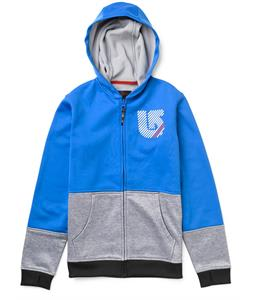 Burton Blocker Bonded Hoodie Cobalt/Pewter Heather