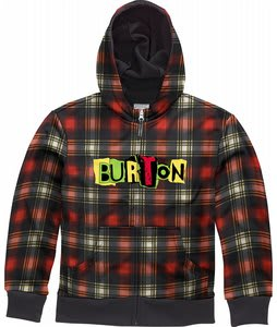 Burton Bonded Hoodie Blaze Shred Plaid