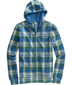 Burton Bonded Hoodie Swedish Blue Jump Off Plaid