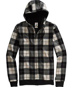Burton Bonded Hoodie True Black/Revert Plaid