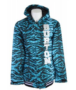 Burton Restricted Booth Team Snowboard Jacket Blue Tiger Print
