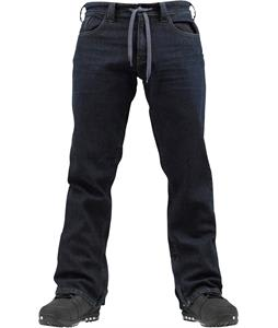 Burton Burner Denim Snowboard Pants Deep Blue Wash
