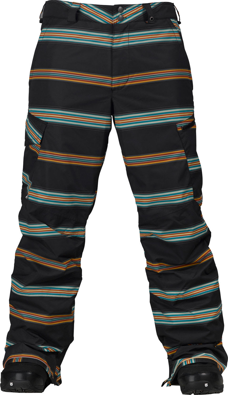 Shop for Burton Cargo Snowboard Pant True Black Bandwidth Stripe Print - Men's