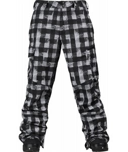 Burton Cargo Snowboard Pant True Black Painted Buffalo Plaid Print