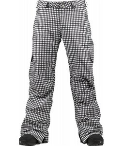Burton Cargo Snowboard Pants True Black Wrinkled Gingham