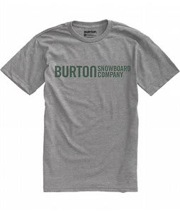 Burton Classic Horizontal T-Shirt Heather Grey
