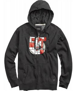 Burton Compartment Fullzip Hoodie Heather True Black