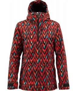 Burton Cora Pullover Snowboard Jacket Raw Edged Print