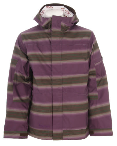 Burton Cosmic Delight Snowboard Jacket Mocha Faded Stripe Print