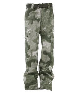 Burton Captain Tripps Snowboard Pants Beetle Green Tie Dye Camo Print