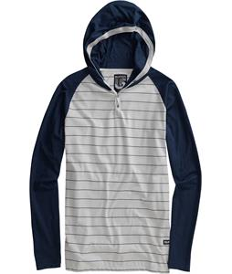 Burton Crackle Hooded Henley Midnight Blue