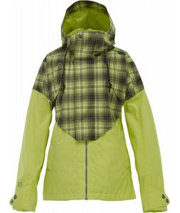 Burton Credence Snowboard Jacket Aloe Fade Out Plaid