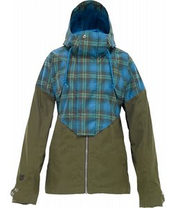 Burton Credence Snowboard Jacket Lady Luck Fade Out Plaid