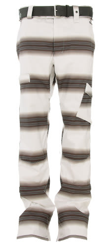 Burton Cosmic Delight Snowboard Pants Bright White Faded Stripe