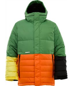 Burton Cushing Down Snowboard Jacket Astro Turf Colorblock