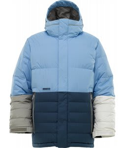 Burton Cushing Down Snowboard Jacket Blue 23 Colorblock