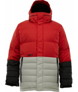 Burton Cushing Down Snowboard Jacket Cardinal Colorblock