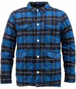 Burton Dags Flannel Jacket Heron Blue Tango Ombre