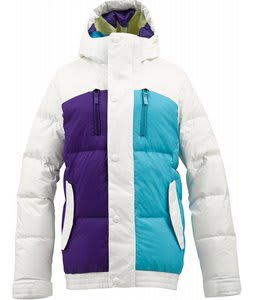 Burton Dandridge Down Snowboard Jacket Bright White Colorblock