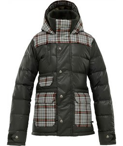 Burton Dandridge Down Snowboard Jacket Resin Groupie Plaid