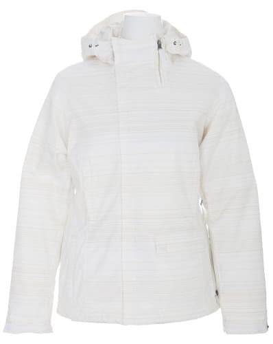 Burton Dante Snowboard Jacket Bright White Diamond Stripe Jaquard