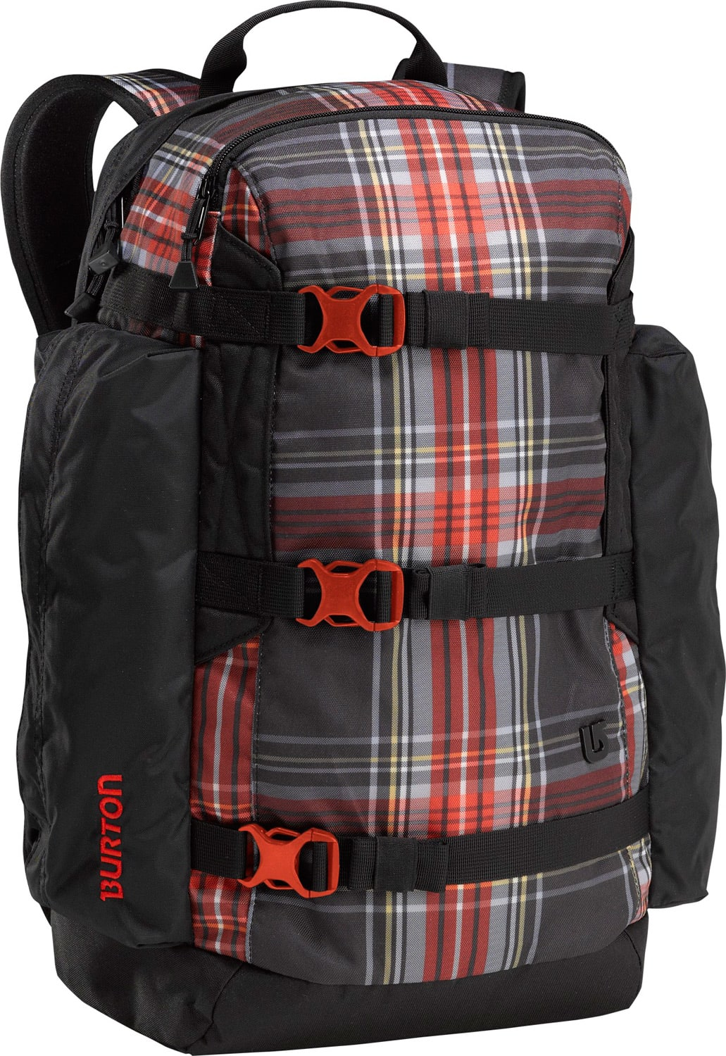 Burton Day Hiker Backpack Black Plaid 25L