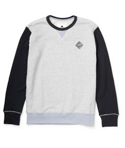 Burton Decade Crew Pullover Sweatshirt Heather Eclipse