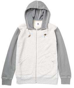 Burton Decade Premium Full-Zip Hoodie Heather Pewter