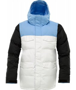 Burton Deerfield Puffy Snowboard Jacket Blue 23 Colorblock