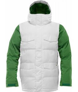 Burton Deerfield Puffy Snowboard Jacket Stout White