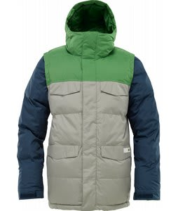 Burton Deerfield Puffy Snowboard Jacket Iron Grey/Astro Turf