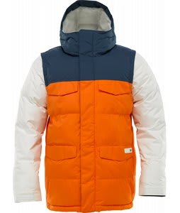 Burton Deerfield Puffy Snowboard Jacket Orangeman Colorblock