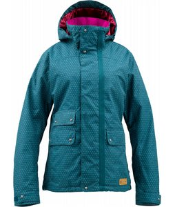 Burton Delirium Snowboard Jacket Spruce Card Dot
